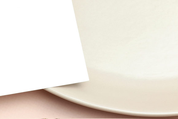 Mockup Greeting Card on Plate Graphic Item