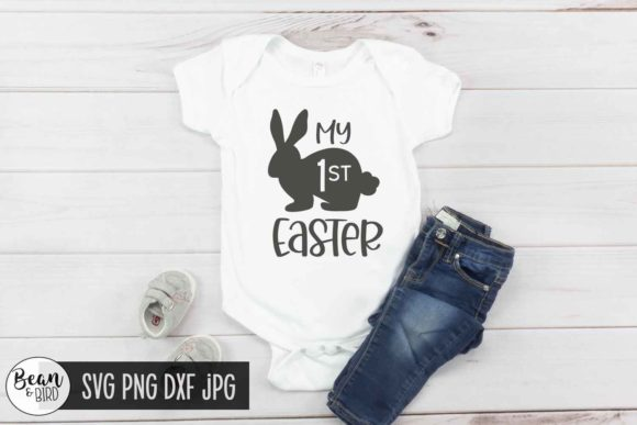Download Free My First Easter Graphic By Jessica Maike Creative Fabrica for Cricut Explore, Silhouette and other cutting machines.