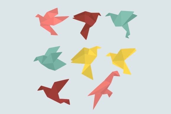 Origami Birds Collection Graphic By Aprlmp276 Creative Fabrica