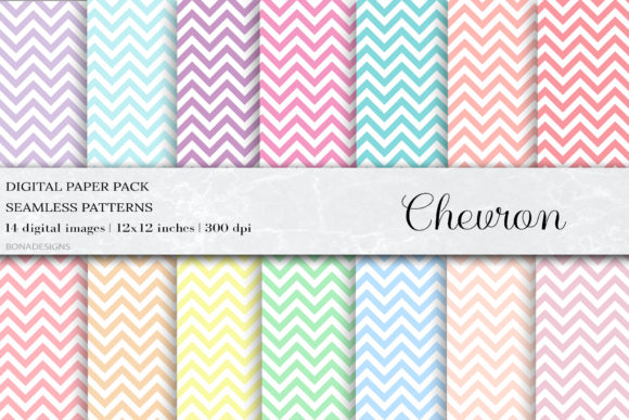 Pastel Chevron Seamless Patterns Graphic Patterns By damlaakderes