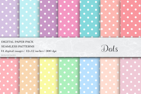Pastel Dots Seamless Patterns Graphic Patterns By BonaDesigns