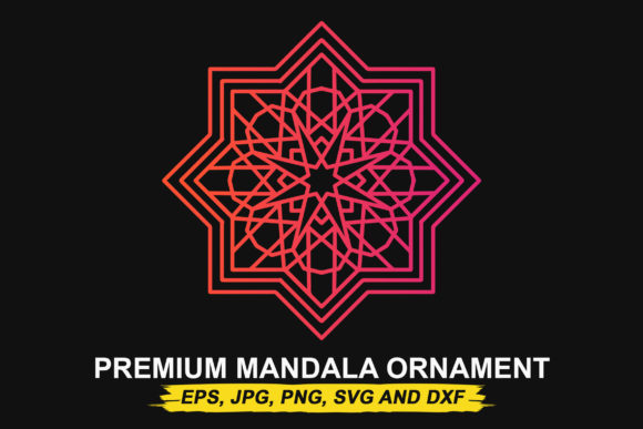 Download Free Premium Mandala Ornament Vector Art Graphic By Donikudjo for Cricut Explore, Silhouette and other cutting machines.