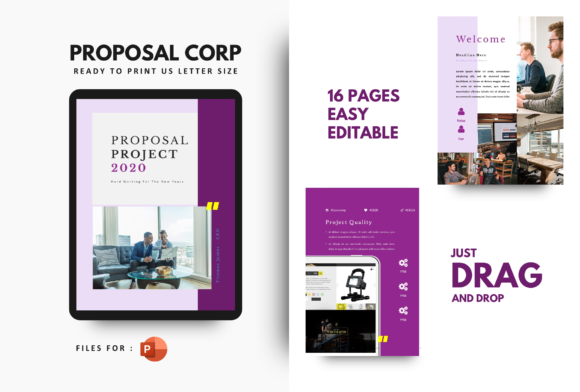Print on Demand: Project Proposal Company 2020 Template Graphic Print Templates By rivatxfz