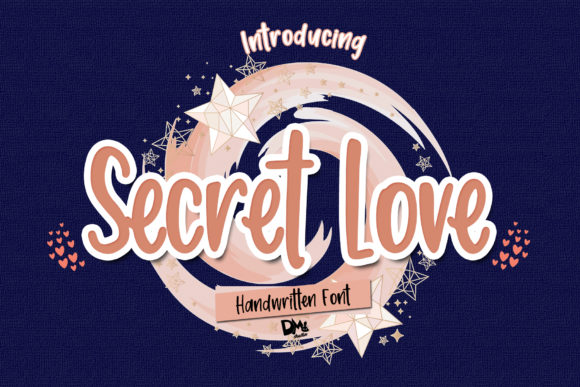 Print on Demand: Secret Love Manuscrita Fuente Por dmletter31
