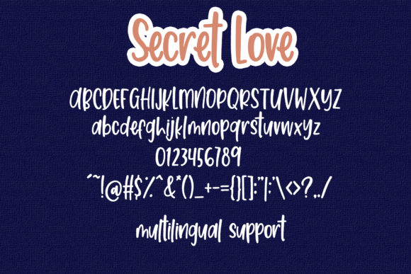 Print on Demand: Secret Love Script & Handwritten Font By dmletter31 - Image 7