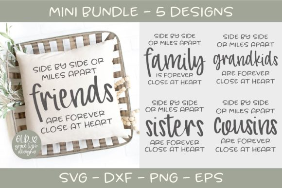 Side by Side Mini Bundle - 5 Designs Graphic Crafts By GraceLynnDesigns - Image 1