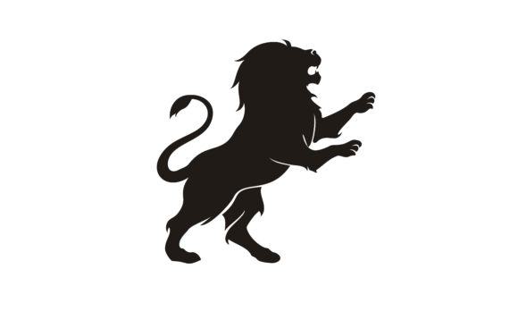 Print on Demand: Silhouette Lion King Heraldry Logo Grafik Logos von Enola99d