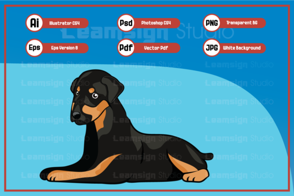 Print on Demand: Sitting Dog Character Illustration Graphic Icons By leamsign - Image 1