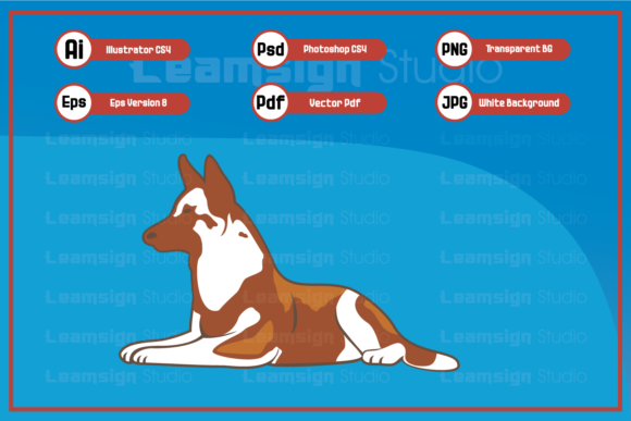 Print on Demand: Sitting Dog Character Illustration Graphic Icons By leamsign