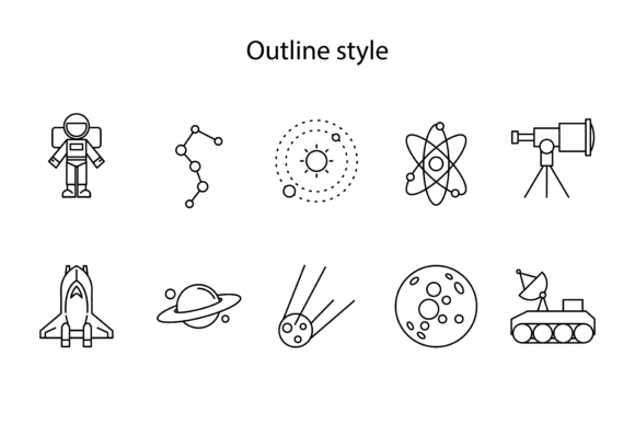 Space Project Icon Graphic Icons By verry studio