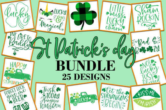 Print on Demand: St Patrick's Day Quotes Sayings Graphic Crafts By freelingdesignhouse