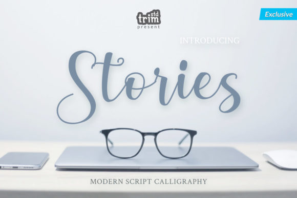 Print on Demand: Stories Script & Handwritten Font By Trim Studio