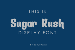 Print on Demand: Sugar Rush Display Font By Nerdstudio