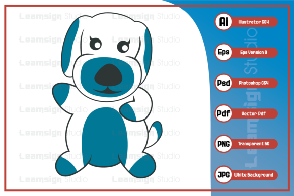 Print on Demand: Sweet Dog Mascot Character Illustration Graphic Icons By leamsign
