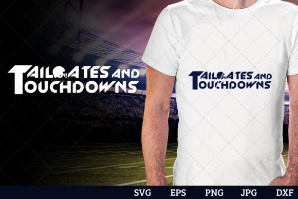 Tailgates and Touchdowns Superbowl Foot Gráfico Crafts Por thesilhouettequeenshop