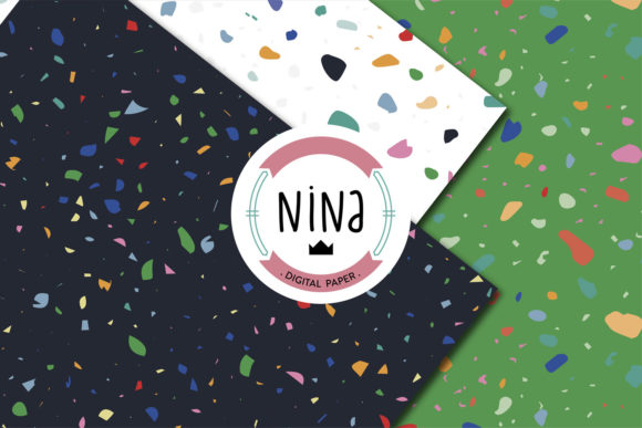 Download Free Terrazo Digital Paper Terrazzo Wrapping Graphic By Nina Prints for Cricut Explore, Silhouette and other cutting machines.