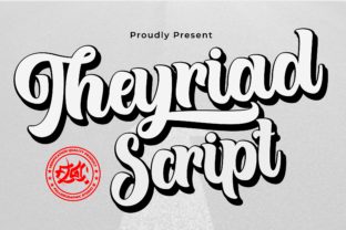 Print on Demand: Theyriad Script & Handwritten Font By Fallengraphic 1
