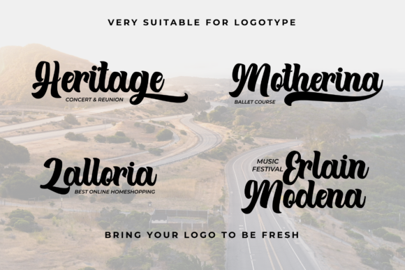 Print on Demand: Theyriad Script & Handwritten Font By Fallengraphic - Image 4
