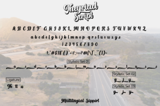Print on Demand: Theyriad Script & Handwritten Font By Fallengraphic 6