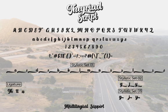 Print on Demand: Theyriad Script & Handwritten Font By Fallengraphic - Image 6