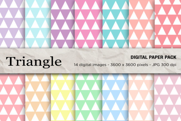 Triangle Seamless Patterns Gráfico Moldes Por mertakdere19