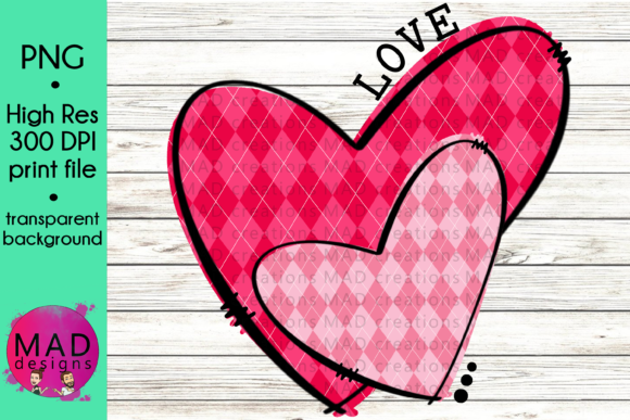 Download Free Valentine Hearts Pink Argyl Plaid Graphic By Maddesigns718 for Cricut Explore, Silhouette and other cutting machines.