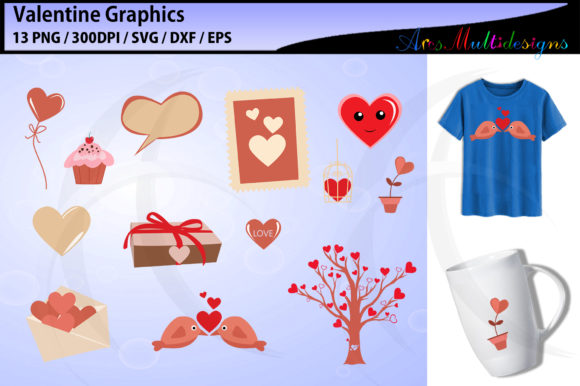 Print on Demand: Valentine Valentine Graphics Graphic Illustrations By Arcs Multidesigns