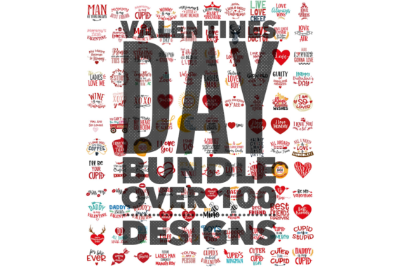 Valentines Bundle Sublimation & Vinyl Graphic Holidays By Casie Jones