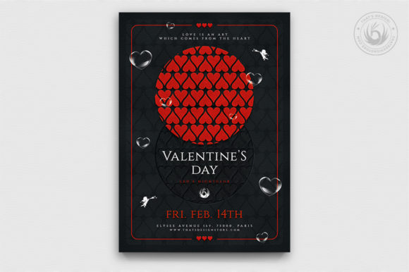 Valentines Day Flyer Template Graphic Print Templates By ThatsDesignStore