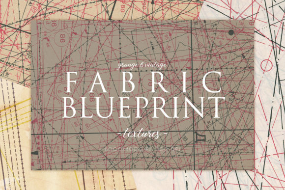 Print on Demand: Vintage Fabric Blueprint Textures 1 Graphic Textures By ArtistMef