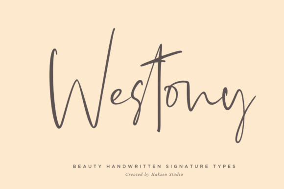 Print on Demand: Westony Script & Handwritten Font By Haksen