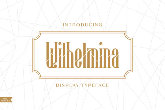 Print on Demand: Wilhelmina Display Font By raretracks