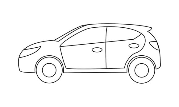 Car Coloring Book Transportation to Logo Graphic Coloring Pages & Books Kids By DEEMKA STUDIO