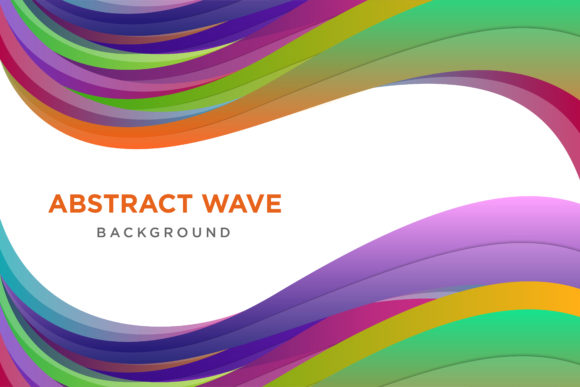 Print on Demand: Colorful Wave Background Gráfico Fondos Por noory.shopper