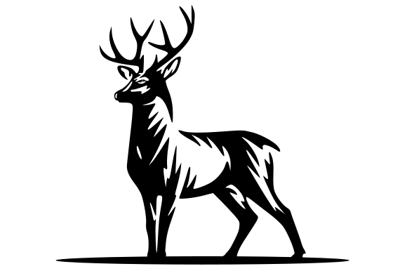 Download Free Deer Icon Graphic By Masnung Creative Fabrica for Cricut Explore, Silhouette and other cutting machines.