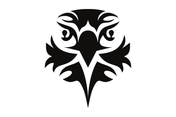 Download Free Eagle Face Graphic By Masnung Creative Fabrica for Cricut Explore, Silhouette and other cutting machines.