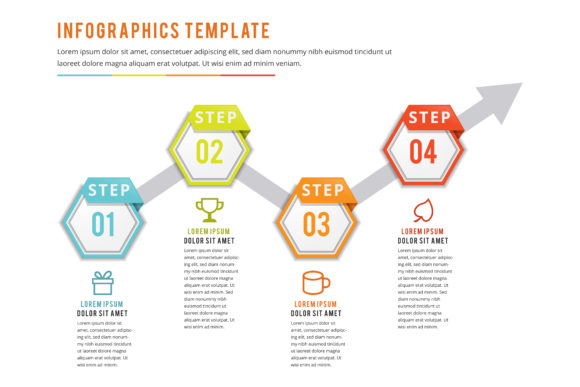 Print on Demand: Infographics Hexagon Flat Color Graphic Infographics By noory.shopper