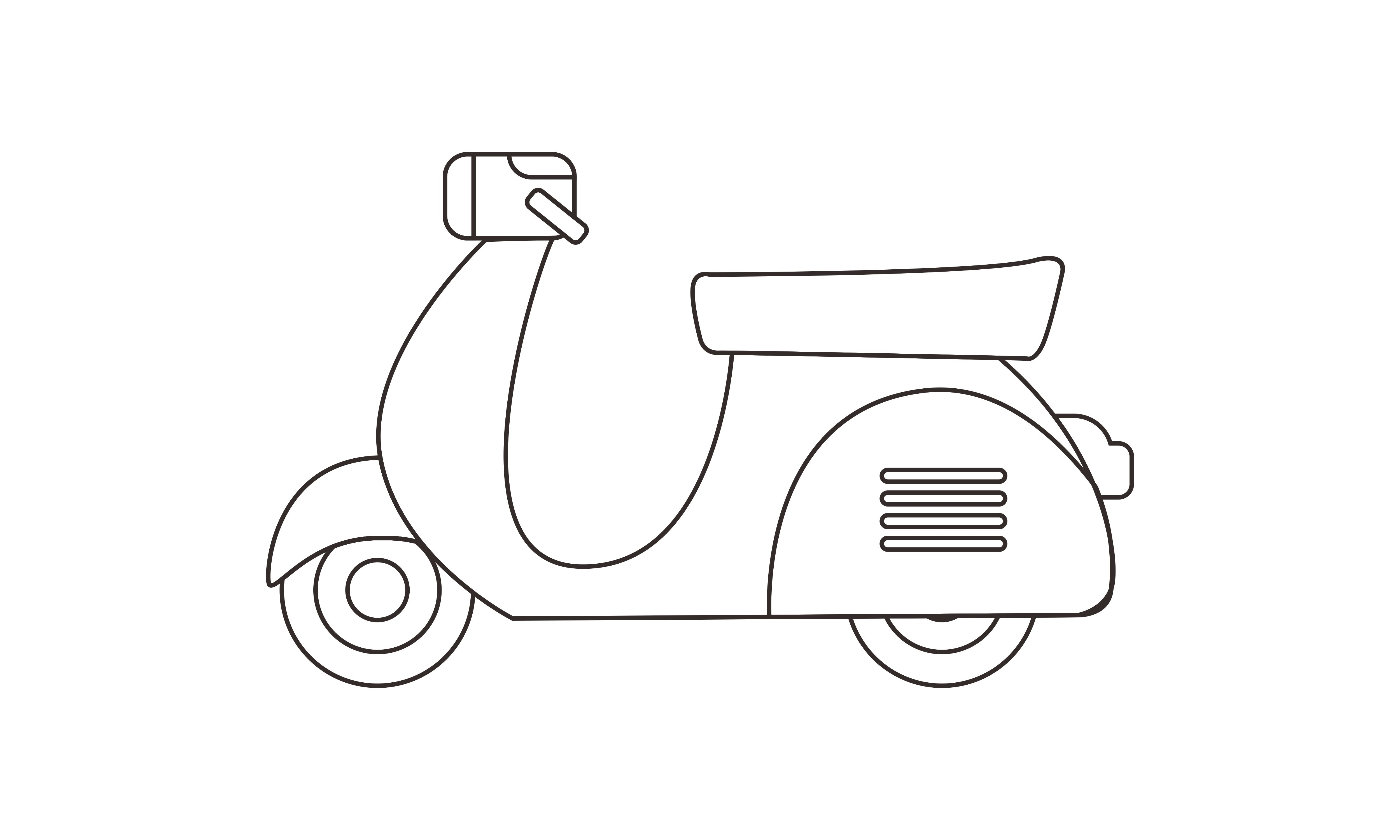 Download Free Motorcycle Coloring Book Transportation Graphic By Deemka Studio for Cricut Explore, Silhouette and other cutting machines.