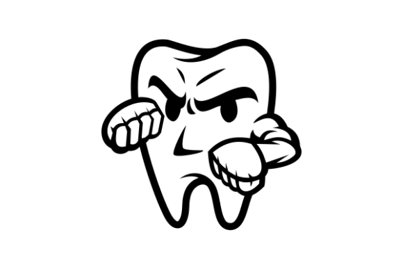 Print on Demand: Tooth Fighter Graphic Icons By Masnung