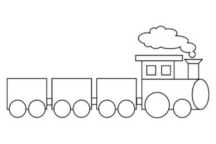 Print on Demand: Train Coloring Book Transportation Logo Graphic Coloring Pages & Books Kids By DEEMKA STUDIO