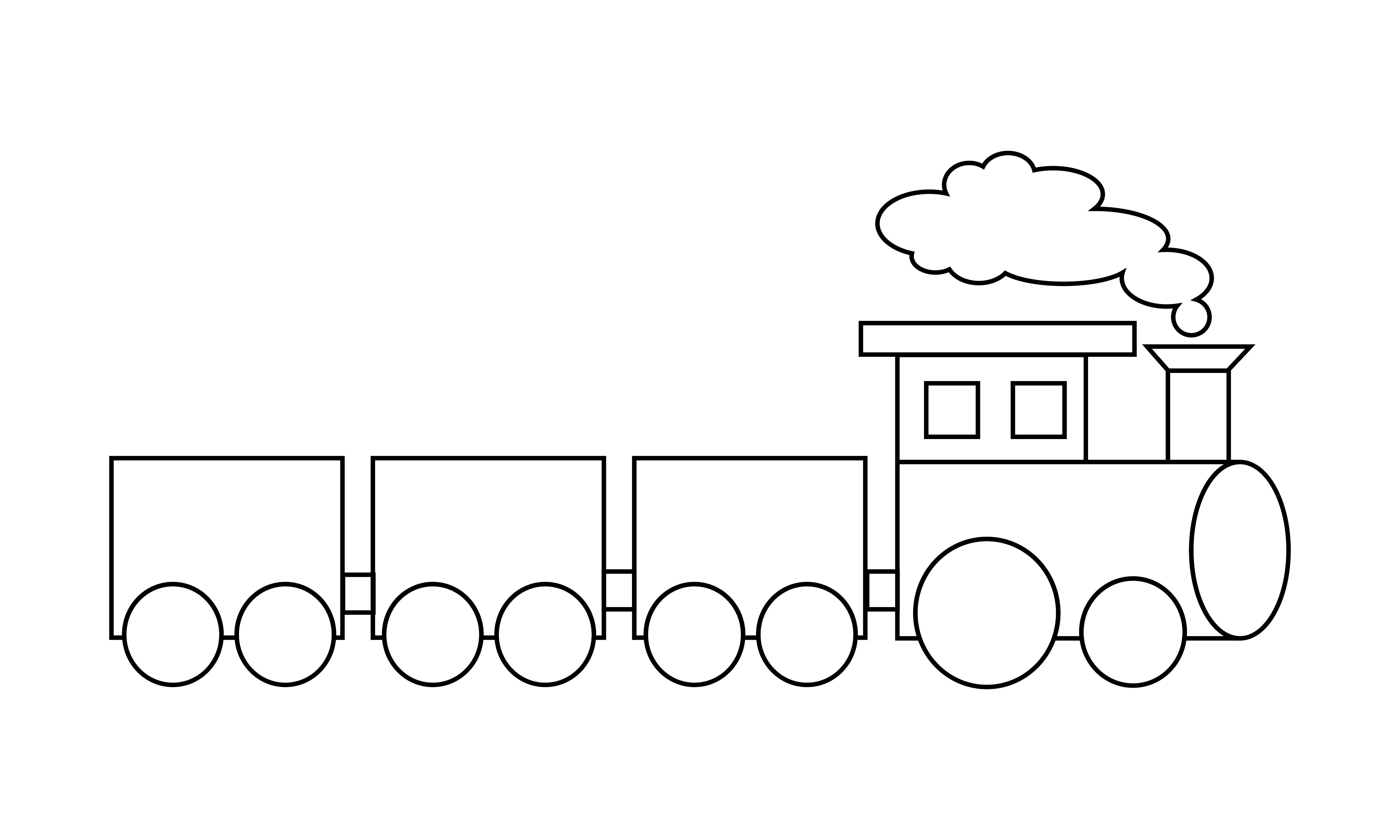 Download Free Train Coloring Book Transportation Logo Graphic By Deemka Studio for Cricut Explore, Silhouette and other cutting machines.