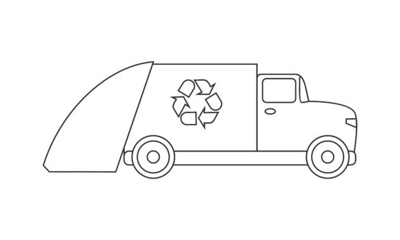 Download Free Truck Coloring Book Transportation Graphic By Deemka Studio for Cricut Explore, Silhouette and other cutting machines.