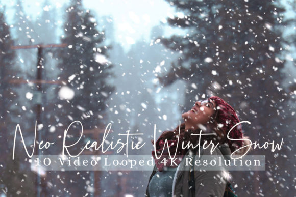 Print on Demand: 10 Neo Realistic Winter Snow Overlays Graphic Objects By 3Motional - Image 1