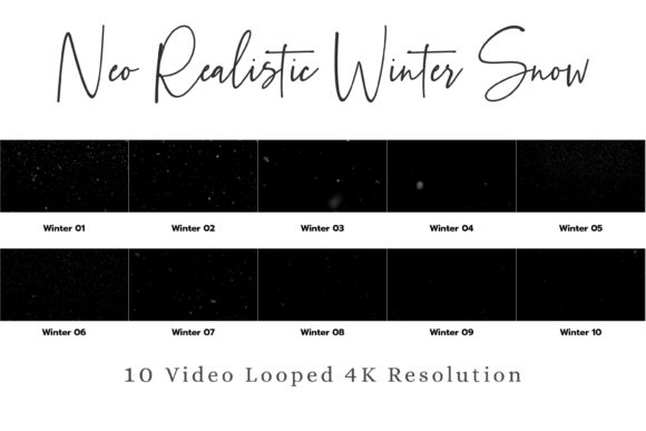 Print on Demand: 10 Neo Realistic Winter Snow Overlays Graphic Objects By 3Motional - Image 10