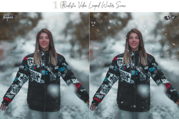 Print on Demand: 10 Neo Realistic Winter Snow Overlays Graphic Objects By 3Motional - Image 8