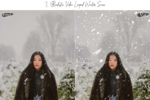 Print on Demand: 10 Neo Realistic Winter Snow Overlays Graphic Objects By 3Motional - Image 9