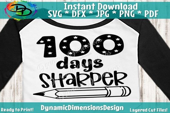Print on Demand: 100 Days Sharper, 100th Day of School Graphic Crafts By dynamicdimensions