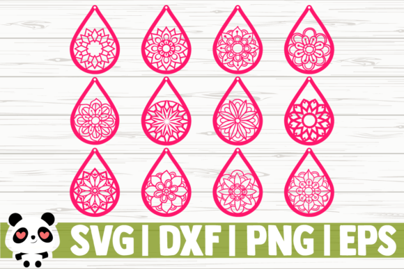 Download Free 12 Mandala Earrings Graphic By Creativedesignsllc Creative Fabrica for Cricut Explore, Silhouette and other cutting machines.