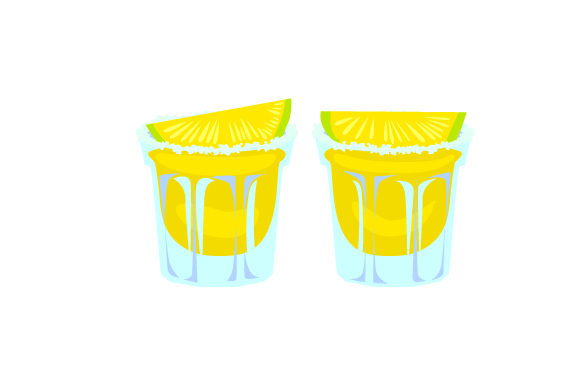 Tequila Shots with Lime Wedges Happy Hour Craft Cut File By Creative Fabrica Crafts - Image 1