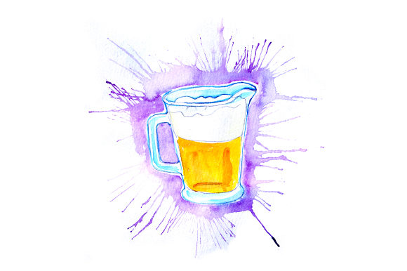 Pitcher of Beer in Paint Splatter Style Happy Hour Craft Cut File By Creative Fabrica Crafts